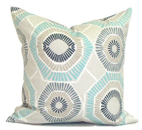 Blue pillow, aqua pillow, popular pillow