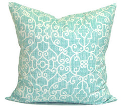 Blue pillows, aqua pillows, popular pillow