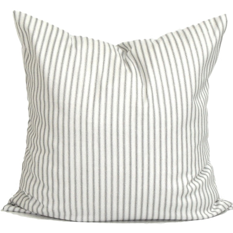 French Gray White Ticking Stripe
