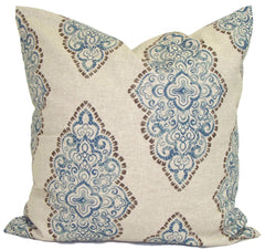 Indigo pillow, blue pillow, damask pillow covers, ElemenOPillows Decorative Pillows, Pillows, Pillow Covers, Throw Pillows