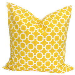 Yellow Pillow.Yellow Outdoor Decor. Decorative Throw Pillows. ElemenOPillows,