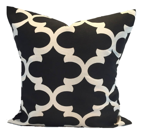 Decorative Pillows, Pillows, Pillow Covers, Throw Pillows, Toss Pillows, Bedding, Custom Pillows - Black And Natural Tiles