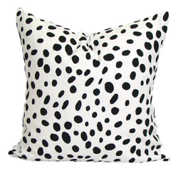 Home Decor, Black pillow, pillow, popular pillow, Decorative Pillows, Pillows, Pillow Covers, Throw Pillows, Toss Pillows, Bedding, Custom Pillows - Black/white Dalmation