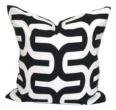 Home Decor, Black pillow, pillow, popular pillow, Decorative Pillows, Pillows, Pillow Covers, Throw Pillows, Toss Pillows, Bedding, Custom Pillows - Black/white Geometric