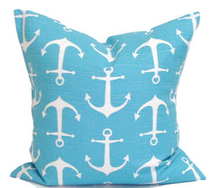 Home Decor, Nautical pillow, pillow, popular pillow, Decorative Pillows, Pillows, Pillow Covers, Throw Pillows, Toss Pillows, Bedding, Custom Pillows - Blue And White Anchors