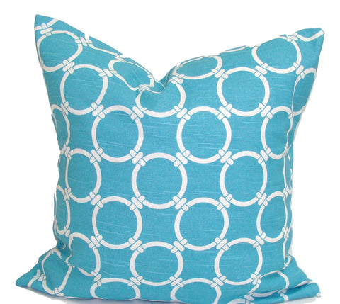 Home Decor, Blue pillow, pillow, popular pillow, Decorative Pillows, Pillows, Pillow Covers, Throw Pillows, Toss Pillows, Bedding, Custom Pillows - Blue And White Circles