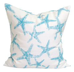 Nautical Decor, Blue Pillows, Home Decor, Decorative Pillows, Pillows, Pillow Covers, Throw Pillows, Toss Pillows, Bedding, Custom Pillows - Blue And White Starfish