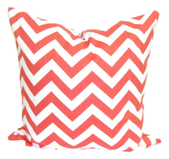 Coral Decorative Pillows, Home Decor. Pillows, Pillow Covers, Throw Pillows, Toss Pillows, Bedding, Custom Pillows, Home Decor - Coral Chevron