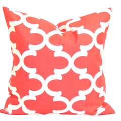 Coral Decorative Pillows, Pillows, Pillow Covers, Throw Pillows, Toss Pillows, Bedding, Custom Pillows, Home Decor - Coral Tiles