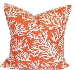 Nautical Pillow. Orange Pillow. Outdoor Pillow. Home Decor. Throw Pillows. ElemenOPillows,