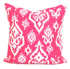 Pink Pillow. Ikat Pillow. Home Decor. Throw Pillows. ElemenOPillows,