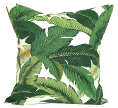 Green indoor/outdoor Tommy Bahama palm leaf