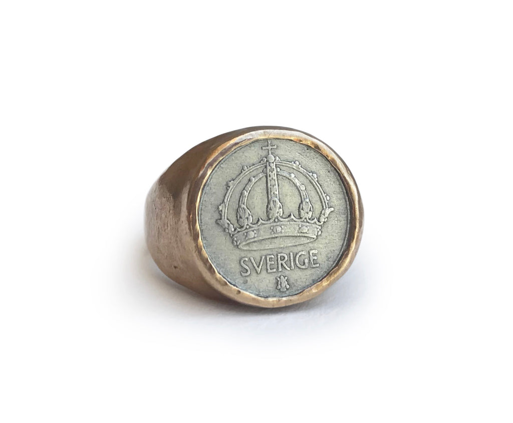"Nordic Coin Ring ""25"" (Larger Coin Version)"