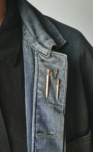 Icelandic and Medieval Dagger lapel pins for Saint Collection