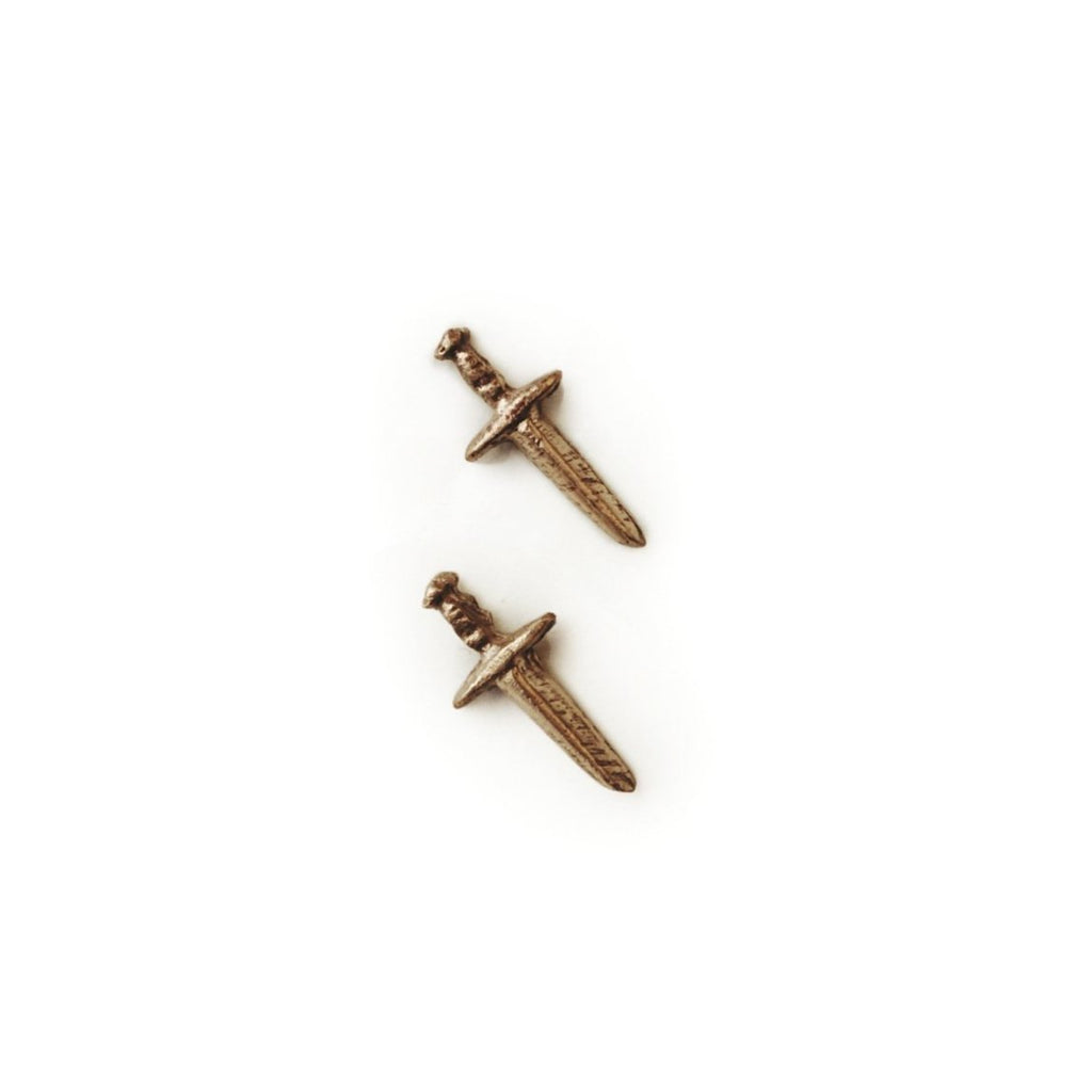 tiny dagger earring studs ancient nordic and viking style