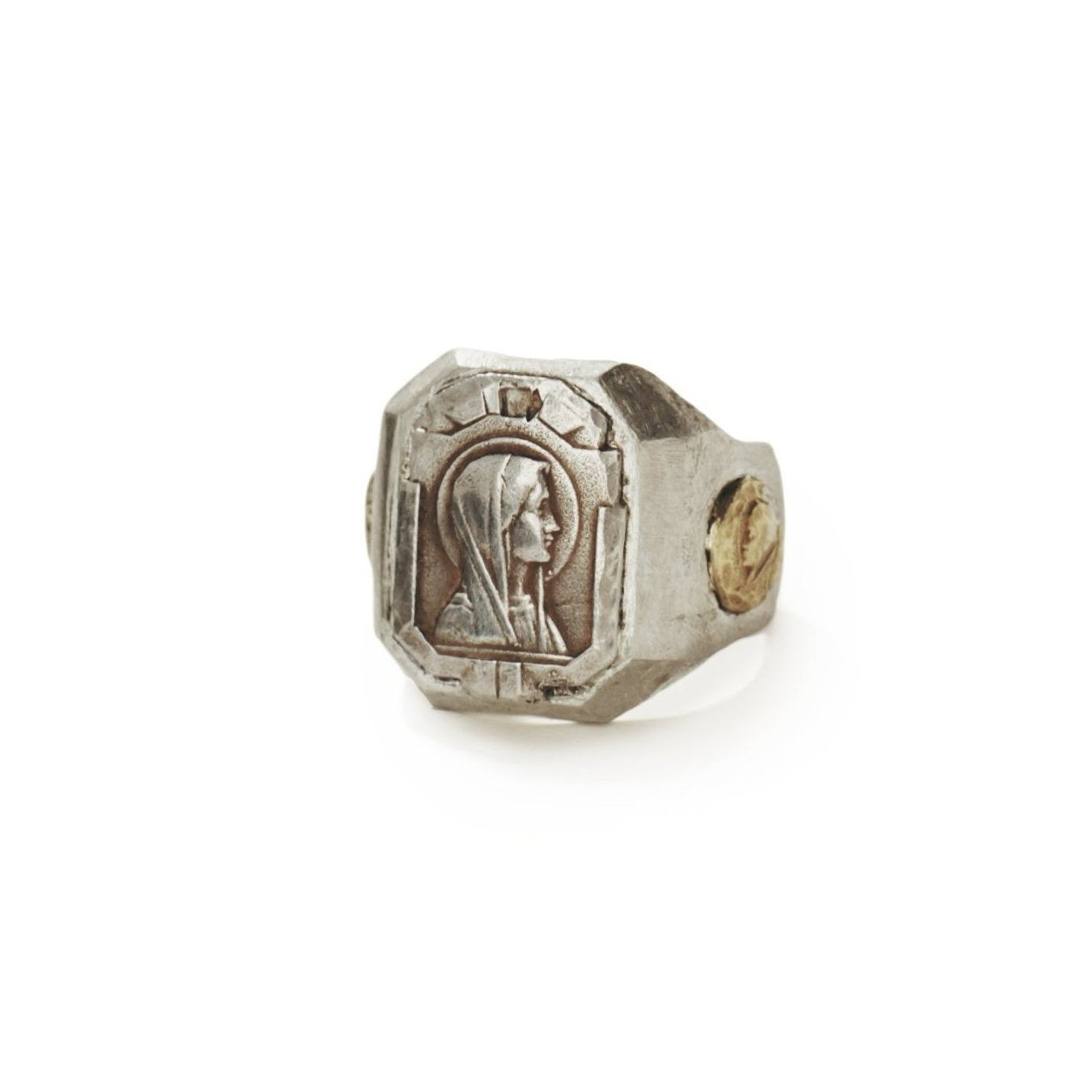 Mother Mary with Medallions Ring