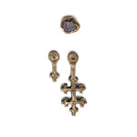 The Original All Saints Cross Earrings - Bronze