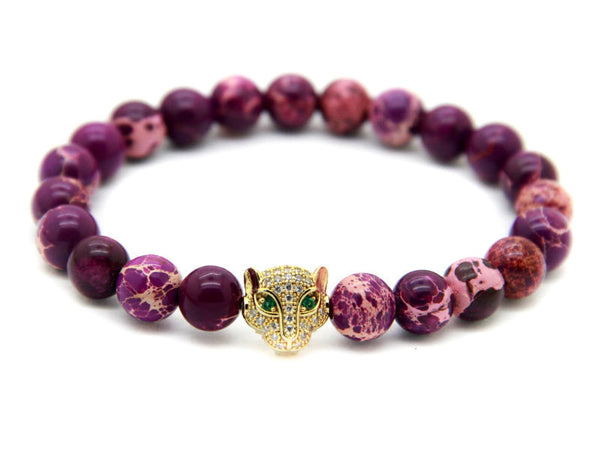 Modalooks-18K-Gold-CZ-Leopard-Purple-Sea-Sediment-Beads-Bracelet