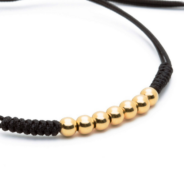 Modalooks-18K-Gold-Plated-4mm-7-Balls-Waxed-Cord-Macrame-Bracelet-Black-Close-Up
