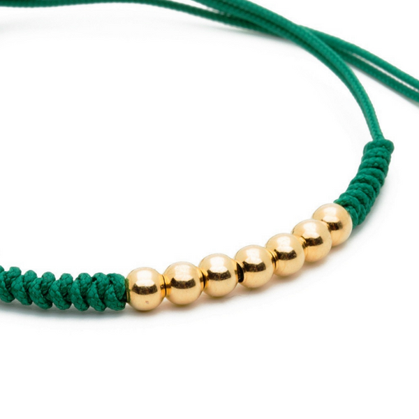 Modalooks-18K-Gold-Plated-4mm-7-Balls-Waxed-Cord-Macrame-Bracelet-Green-Close-Up