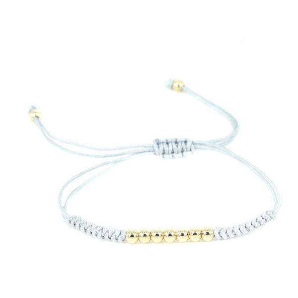 Modalooks-18K-Gold-Plated-4mm-7-Balls-Waxed-Cord-Macrame-Bracelet-Grey