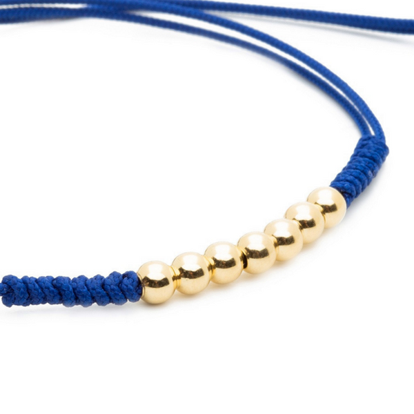 Modalooks-18K-Gold-Plated-4mm-7-Balls-Waxed-Cord-Macrame-Bracelet-Navy-Close-Up