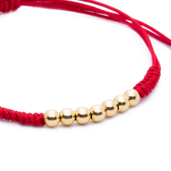 Modalooks-18K-Gold-Plated-4mm-7-Balls-Waxed-Cord-Macrame-Bracelet-Red-Close-Up