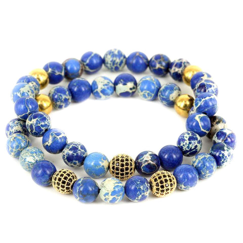 18K-Gold-Plated-CZ-Diamond-Ball-8mm-Blue-Sea-Sediment-Beads-Bracelet-Stack-Modalooks