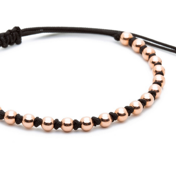 Modalooks-18K-Rose-Gold-4mm-Balls-Waxed-Cord-Macrame-Bracelet-Black-Close-Up