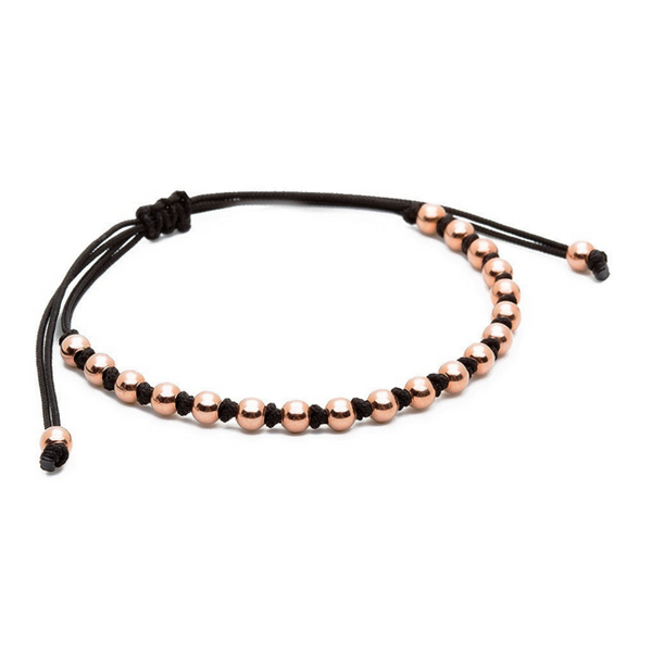 Modalooks-18K-Rose-Gold-4mm-Balls-Waxed-Cord-Macrame-Bracelet-Black-Side