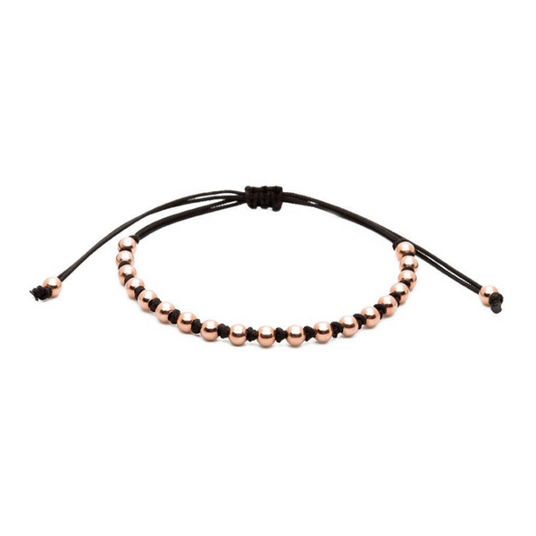 Modalooks-18K-Rose-Gold-4mm-Balls-Waxed-Cord-Macrame-Bracelet-Black