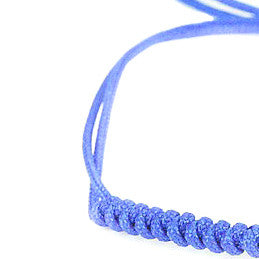 Modalooks-18K-Rose-Gold-Plated-4mm-7-Balls-Waxed-Cord-Macrame-Bracelet-Blue