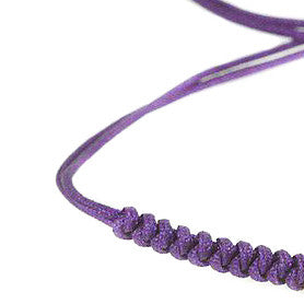 Modalooks-18K-Rose-Gold-Plated-4mm-7-Balls-Waxed-Cord-Macrame-Bracelet-Purple