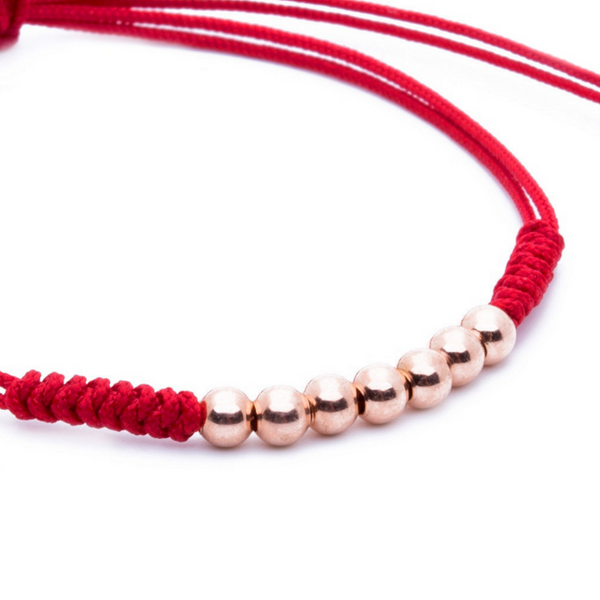 Modalooks-18K-Rose-Gold-Plated-4mm-7-Balls-Waxed-Cord-Macrame-Bracelet-Red-Close-Up