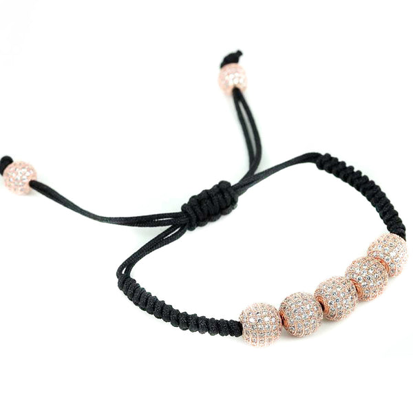 Modalooks-18K-Rose-Gold-Plated-CZ-Diamonds-10mm-Beads-Macrame-Bracelet-Side