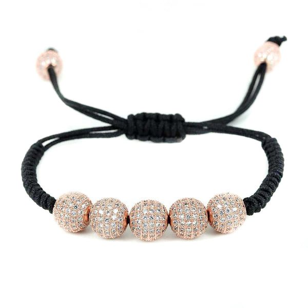 Modalooks-18K-Rose-Gold-Plated-CZ-Diamonds-10mm-Beads-Macrame-Bracelet