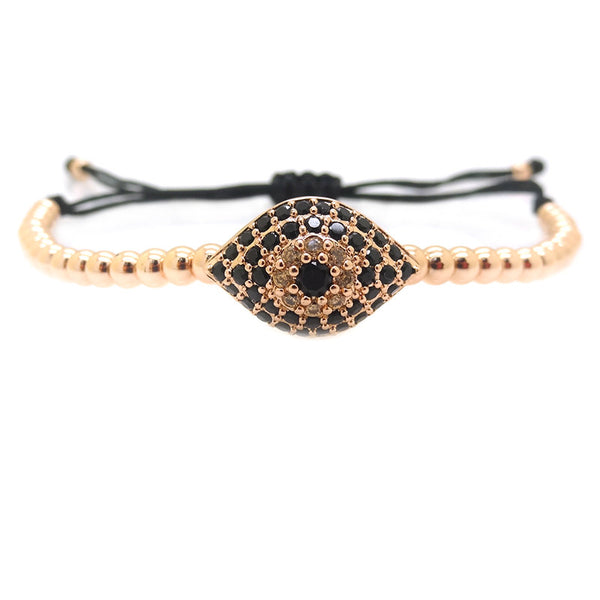 Modalooks-18K-Rose-Gold-Plated-Evil-Eye-CZ-4mm-Balls-Macrame-Bracelet