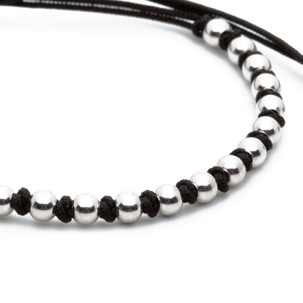 Modalooks-18K-White-Gold-4mm-Balls-Waxed-Cord-Macrame-Bracelet-Black-Close-Up