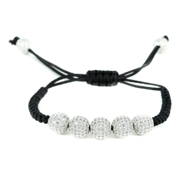 Modalooks-18K-White-Gold-Plated-CZ-Diamonds-10mm-Beads-Macrame-Bracelet
