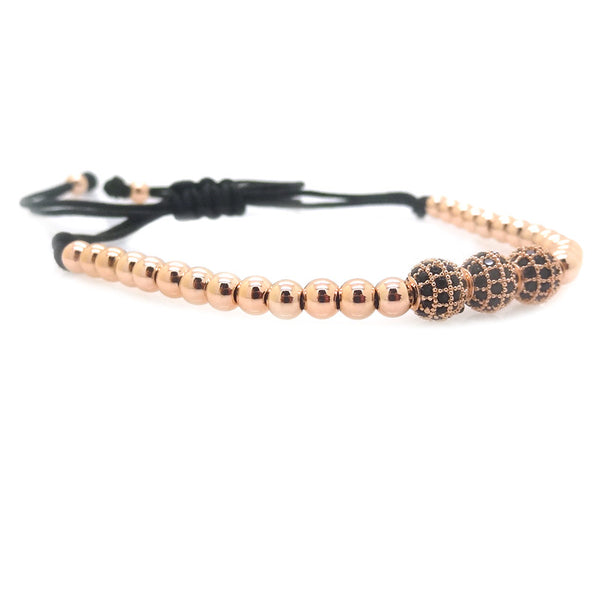 Modalooks-3-CZ-Diamond-Ball-8mm-4mm-18K-Rose-Gold-Plated-Macrame-Bracelet-Side