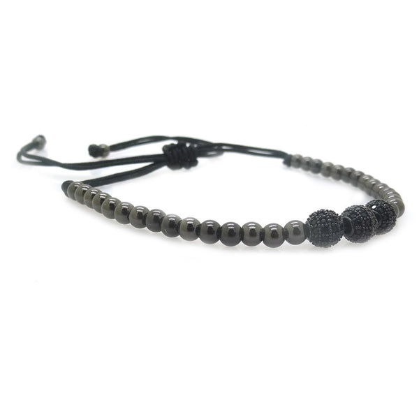 Modalooks-3-CZ-Diamond-Ball-8mm-4mm-Ruthenium-Plated-Macrame-Bracelet-Side