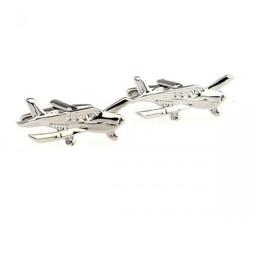 Light-sport-aircraft-Silver-Modalooks-Cufflinks