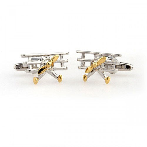 Vintage-Airplane-Gold-Modalooks-Cufflinks-2