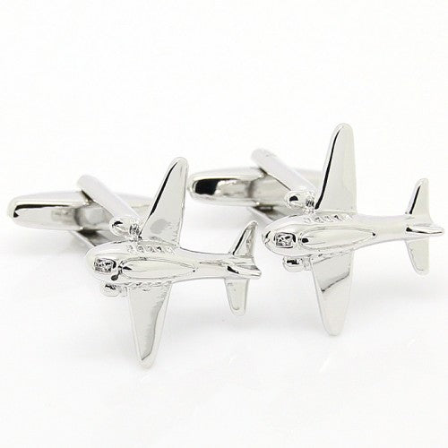 Airplane-Silver-Modalooks-Cufflinks-3