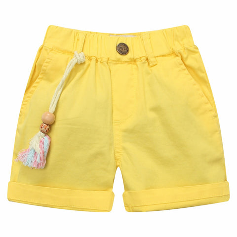 Bambinilooks-Bambini-Kid-Kids-Kidslooks-Modalooks-Shorts-Cotton-Bright-Sun-Yellow