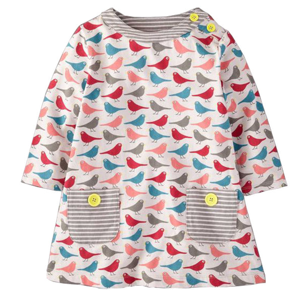Bambinilooks-Bambini-Kidslooks-Kids-Girls-Dress-Long-Sleeve-Colourful-Birds