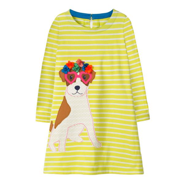 Bambinilooks-Bambini-Kidslooks-Kids-Girls-Dress-Long-Sleeve-Cute-Dog