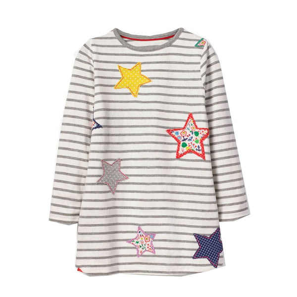 Bambinilooks-Bambini-Kidslooks-Kids-Girls-Dress-Long-Sleeve-Stars
