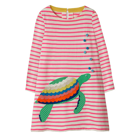 Bambinilooks-Bambini-Kidslooks-Kids-Girls-Dress-Long-Sleeve-Turtle