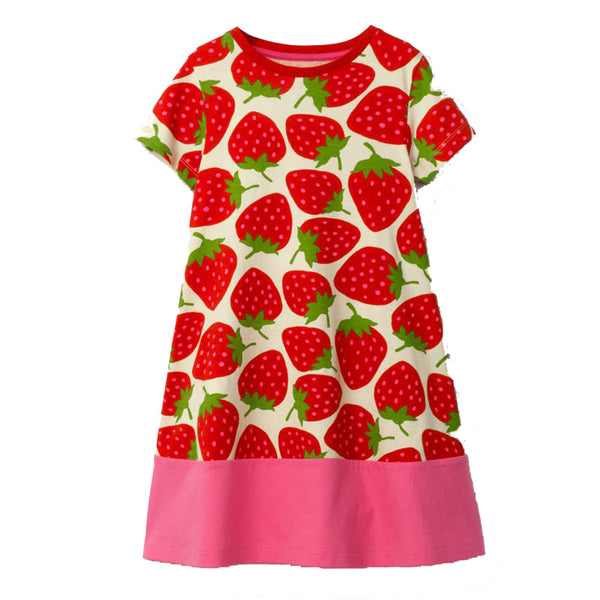 Bambinilooks-Bambini-Kidslooks-Kids-Girls-Dress-Short-Sleeve-Juicy-Strawberry